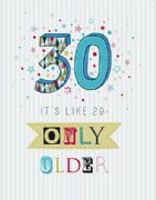 Extra Large Age 30 Birthday Card